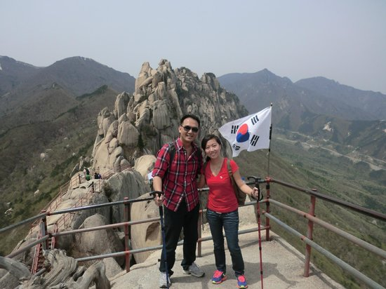 Sokcho, Corea del Sur: The feeling of a great sense of achievement when we reached the apex (at 5,600 ft)