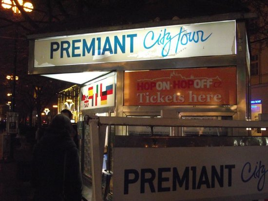 Premiant City Day Tour: The Premiant booth where the tour started