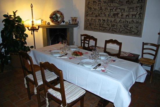 Podere Sanripoli : la tavola per la cena