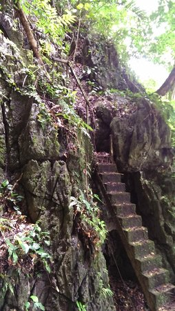 Fairy Caves: old stairs going up to the cave