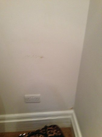 Eaton Square Hotel: damp walls/disgusting floors