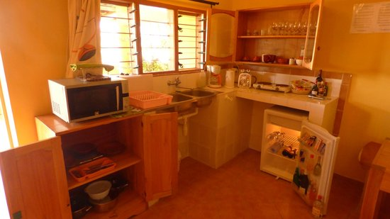 Aparthotel Jardin Tropical : Kitchen of the studio