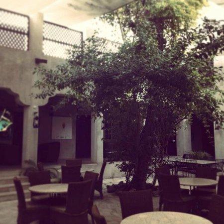 XVA Art Hotel: courtyard and restaurant