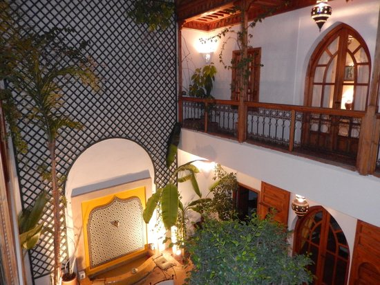 Riad Irene: Vue de la chambre sur le patio et les autres chambres de l'étage