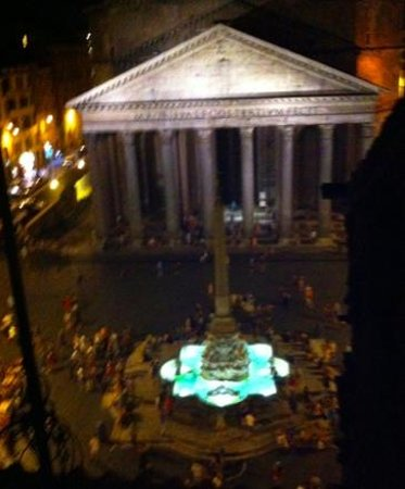 """Albergo del Sole Al Pantheon: View from our suite at night. It was """"dreamy""""."""