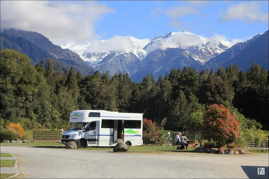 View from Franz Josef TOP 10 Holiday Park