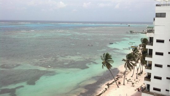 Hotel Calypso: view of the Caribbean