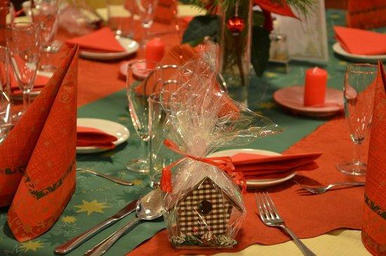 Hotel Myslivna: Christmas dinner table