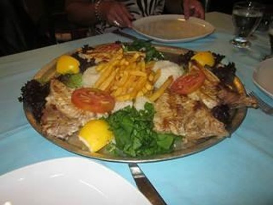 Bodrum Holiday Resort & Spa : Red snapper at sea food restaurant in Bodrum