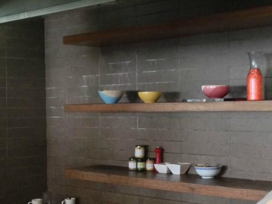 Century Langkawi Beach Resort: the kitchen, look at the wall!