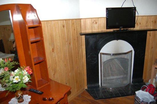 The Trevene Hotel: камин в номере