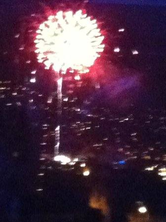 Aleph Boutique Hotel: new year fireworks from the resturant