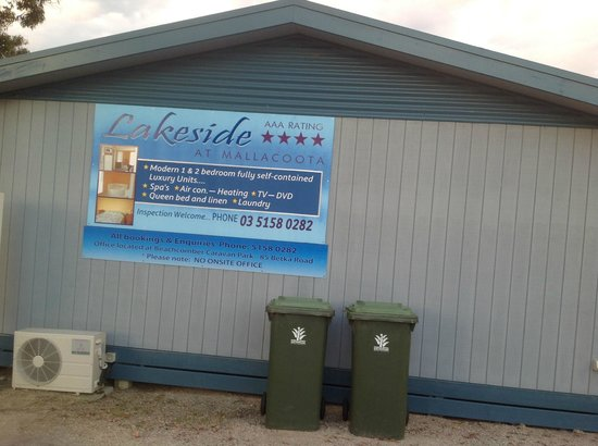 Signage of Lakeside at Mallacoota