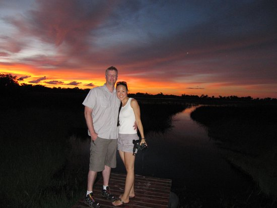 Kanana Camp: Sunset from main deck