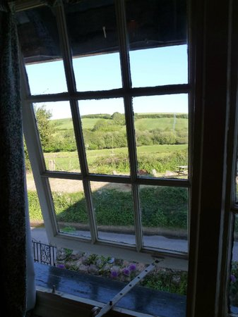 Great Sloncombe Farm : view from twin room