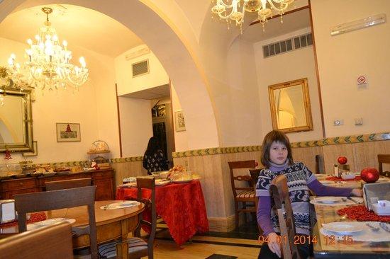 Villa San Lorenzo Maria Hotel: Ждем утренний кофе-чай.