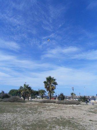 Poetto : Aquilone tra mare e cielo blu