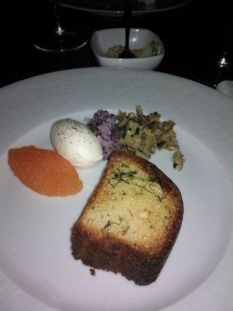 Restaurant Muru: Starter - blini inspired dish