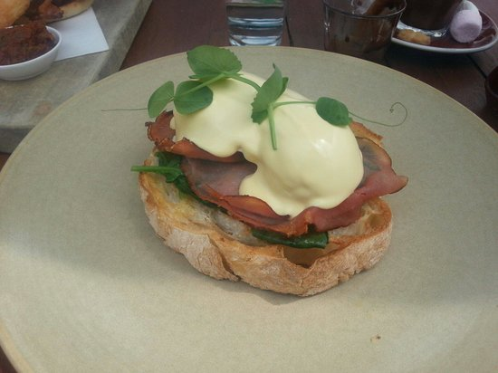 Cafe Enzo: Eggs benedict. Lovely.