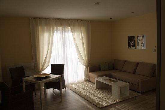 Der Kraueterhof: Blick in die Wohnzimmer der Appartements