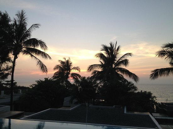 Aleenta Phuket Resort & Spa: the view from the terrace of the room-evening