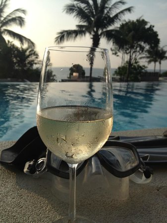 Aleenta Phuket Resort & Spa: the view from the terrace of the room-late afternoon