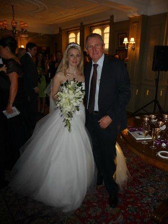 Myself and beautiful bride in Thornton Manor