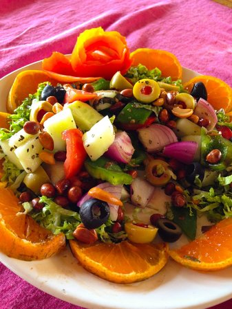 """Papillon Beach Huts : Papillons """"Special Salad"""" - daily favourite"""