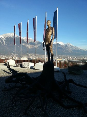 "Museum ""Das Tirol Panorama"": Stunning view in front of it"