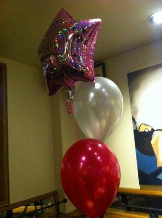 Quod Restaurant & Bar : Balloons