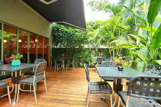 Kasava: Escape the dust and enjoy breakfast or lunch on our back patio with free wifi.