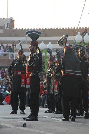 Wagah Border : Pakistani officers