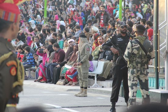 Wagah Border : Pakistani officer