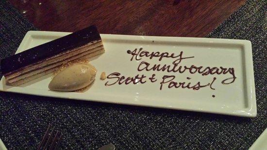 Colicchio & Sons Tap Room: Special Dessert