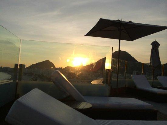 Porto Bay Rio Internacional Hotel : 屋上からの夕日