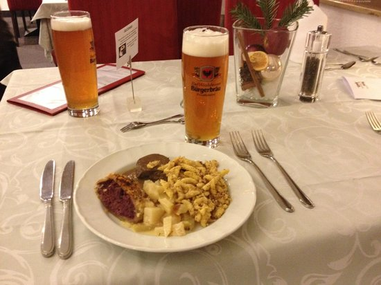 Hotel Am Kurpark Spath : Deliscious Food and Drink!