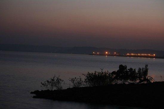 Maikal Resort: evening view from room balcony
