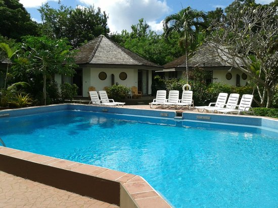Kariwak Village Holistic Haven and Hotel : Pool and apattments