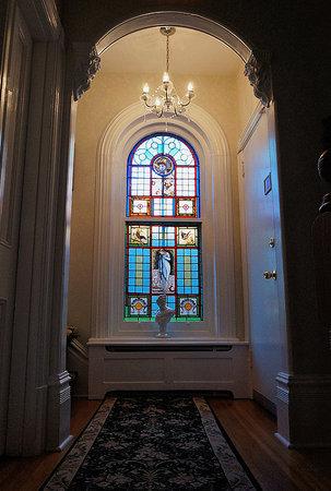 Secret Garden Bed & Breakfast Inn: Original stained glass window
