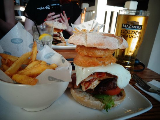 O'Neill's - Kings Cross: This burger is so great and it has everything you've ever dreamt of in a burger in it!