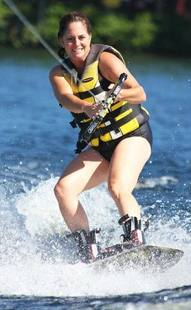 Kingsley Pines Family Camp: Mom wakeboards too!