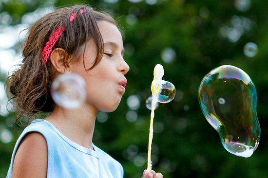 Kingsley Pines Family Camp: Bubbles