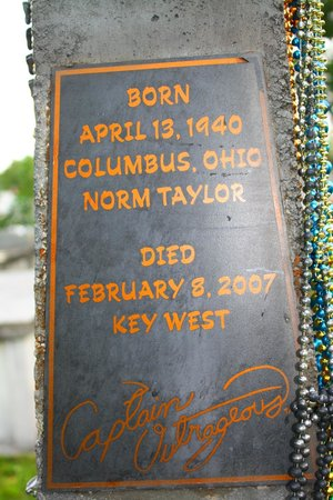 Key West Cemetery: Marker for Captain Outrageous