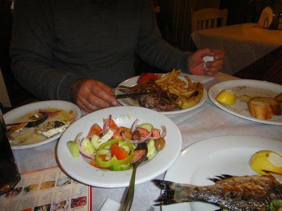 Taverna Tou Psirri : Our dinner