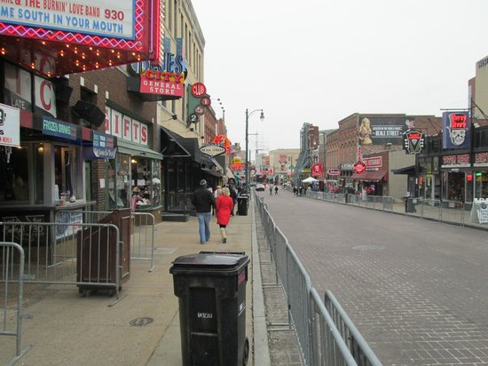 Beale Street Blocked off for Liberty Bowl parade.