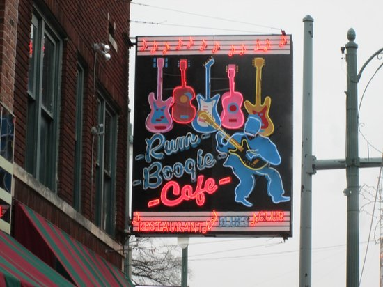 Beale Street: One of the many neon signs.