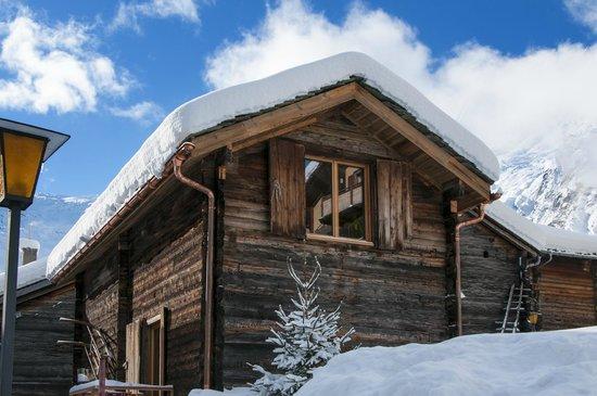 dü Saas-Fee: dü Sass-Fee   Fondue in wunderschöner Winterlandschaft