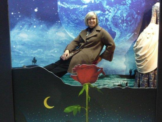 Karel Zeman Museum: My wife Jo rides a rose