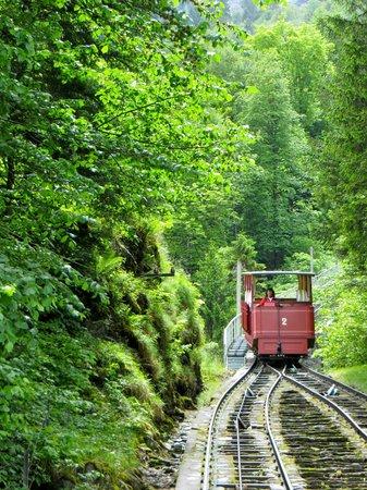 Reichenbach Falls: Furnicular up the mountain