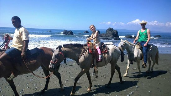 La Ponderosa Beach and Jungle Resort: Horseback Riding arrange by the Hotel (on the beach in front of La Ponderosa)